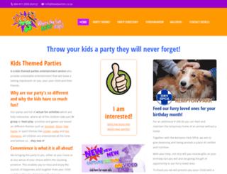 kidsthemedparties.co.za screenshot