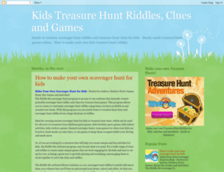 kidstreasurehuntriddles.com screenshot