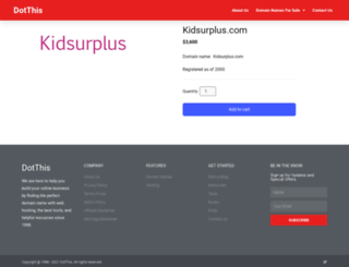 kidsurplus.com screenshot