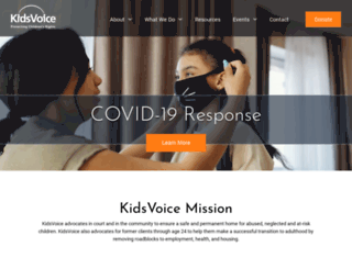 kidsvoice.org screenshot