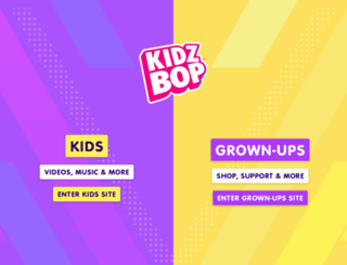 kidzbop.com screenshot