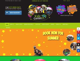 kidzcamps-uk.com screenshot