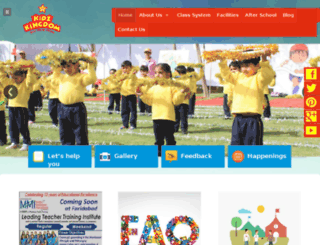 kidzkingdomschool.com screenshot