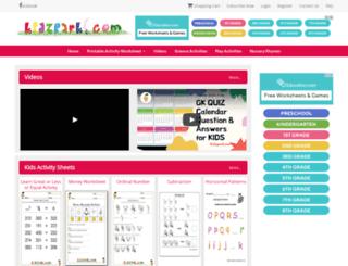 kidzpark.com screenshot