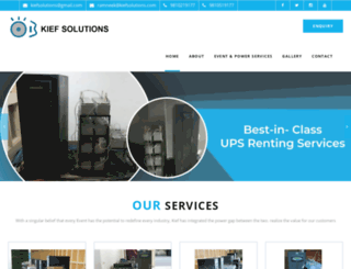 kiefsolutions.com screenshot
