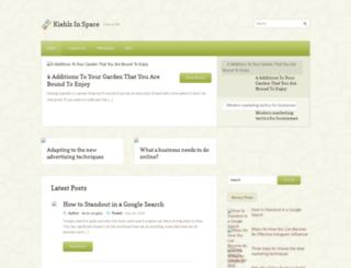 kiehlsinspace.com screenshot