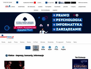 kielce.studentnews.pl screenshot