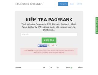 kiemtrapagerank.com screenshot