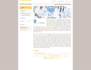 kienthuclamdep.webnode.vn screenshot
