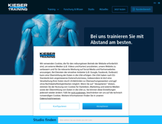 kieser-training.lu screenshot