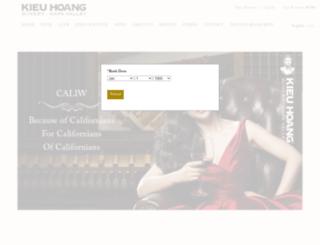 kieuhoangwinery.com screenshot