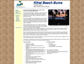 kiheibeachbums.com screenshot
