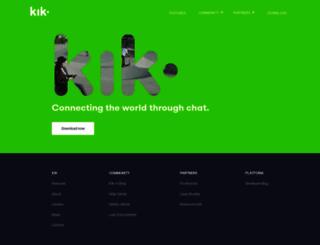 kik.com screenshot