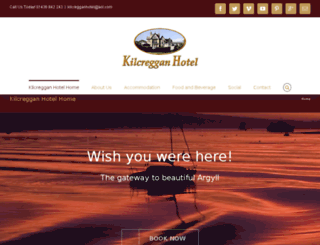 kilcregganhotel.co.uk screenshot