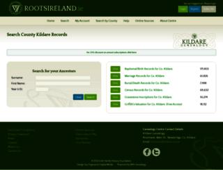 kildare.rootsireland.ie screenshot