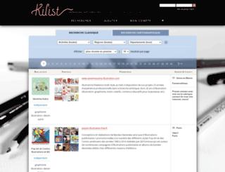 kilist.fr screenshot