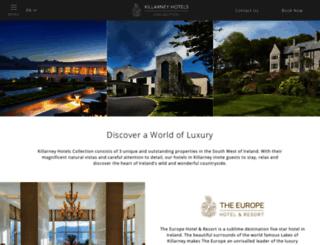 killarneyhotels.ie screenshot