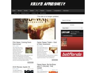 killeraphrodite.com screenshot