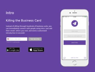 killthebusinesscard.com screenshot