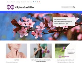 kilpirauhasliitto.fi screenshot