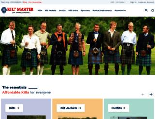 kiltmaster.com screenshot