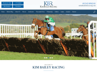 kimbaileyracing.com screenshot
