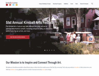 kimballartcenter.org screenshot
