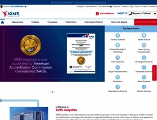 kimshospitals.com screenshot