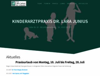 kinder-jugendarzt-bs.de screenshot