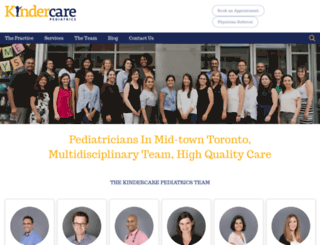 kindercarepediatrics.ca screenshot