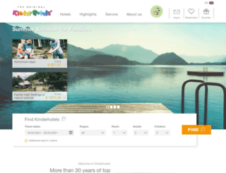 kinderhotels.co.uk screenshot
