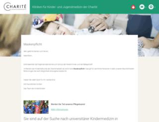 kinderkliniken.charite.de screenshot