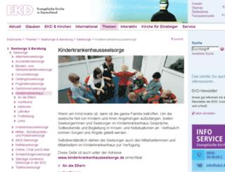 kinderkrankenhausseelsorge.de screenshot
