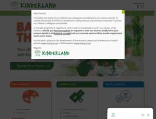 kinderland.com.sg screenshot
