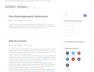 kinderraeume-blog.de screenshot