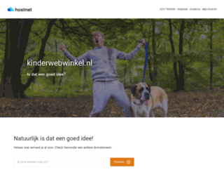 kinderwebwinkel.nl screenshot
