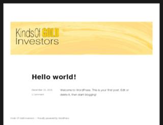 kindsofgold.com screenshot