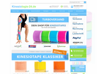 kinesiotape24.de screenshot
