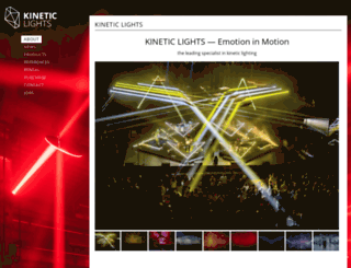 kinetic-lights.com screenshot