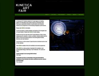 kinetica-artfair.com screenshot
