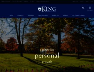 king.edu screenshot