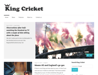 kingcricket.co.uk screenshot