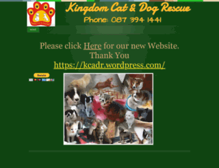 kingdomcatsanddogsrescue.webs.com screenshot