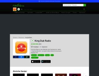 kingdub.radio.de screenshot