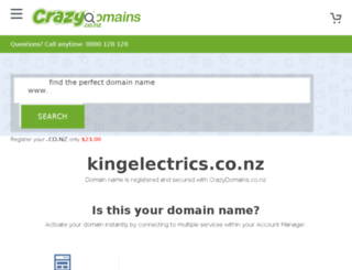 kingelectrics.co.nz screenshot