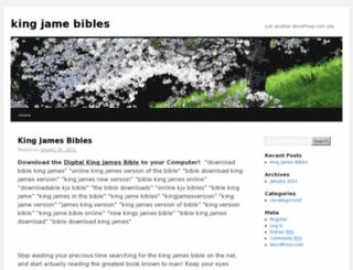 kingjamebibles.wordpress.com screenshot