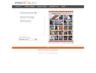 kingmetalscatalog.com screenshot