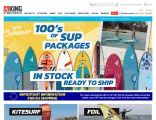 kingofwatersports.com screenshot