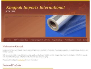 kingpakimports.com.au screenshot