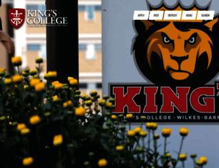 kings.edu screenshot